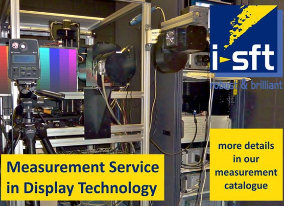 measurement service in display technology